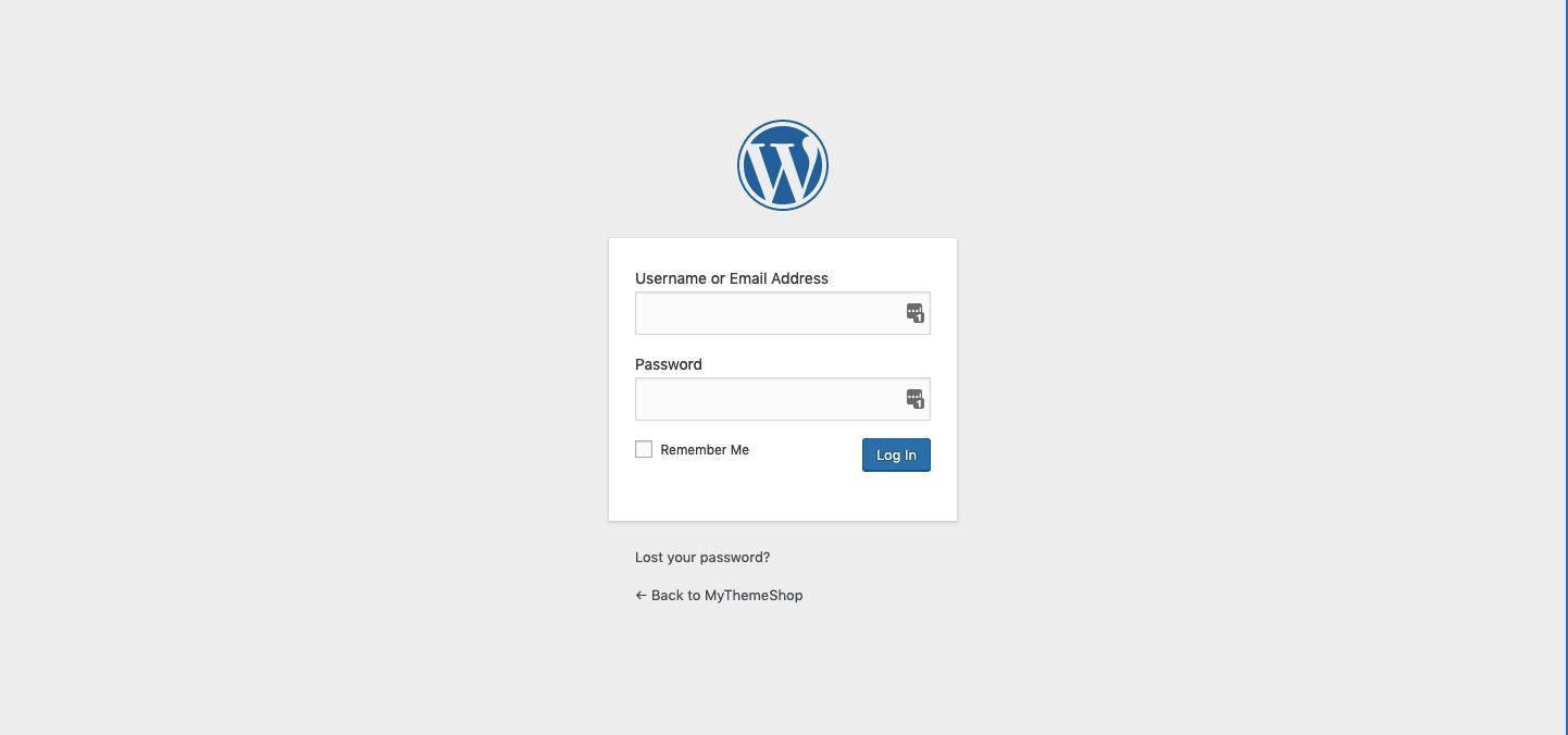 Default-WordPress-login-screen